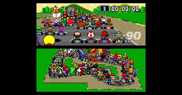 Super Mario Kart com 101 players