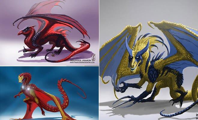 10 personagens de desenho popular transformado em Dragão 7