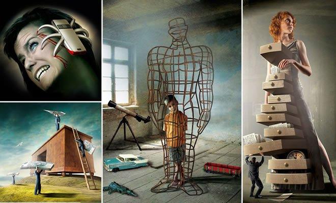 Artista polonês revelar O lado mais escuro da sociedade moderna (36 fotos) 5