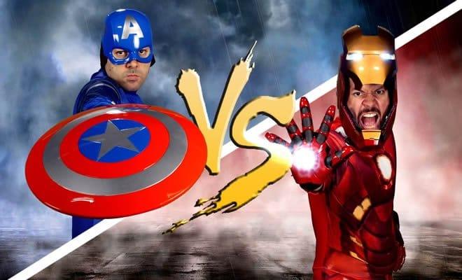 Batalha de rap: Capitão América Vs Homem de Ferro 11