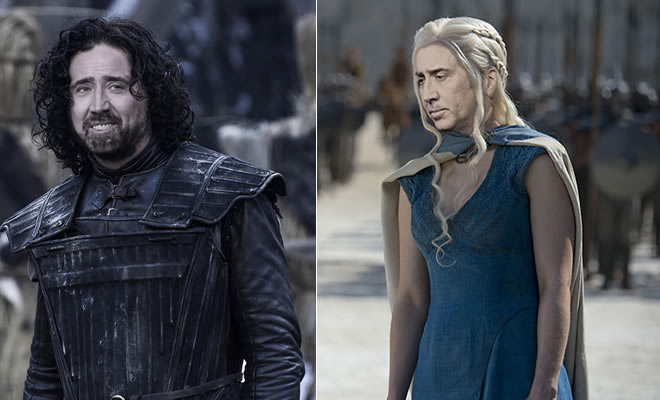 Se Nicolas Cage fossem cada personagem de Game Of Thrones (31 fotos)