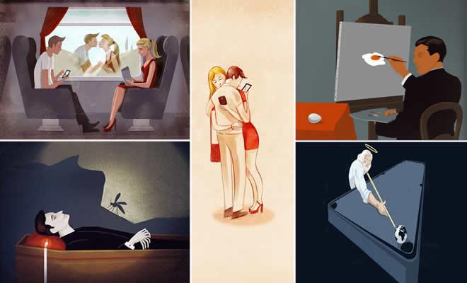 39 ilustrações que mostra a triste verdade da vida moderna 8