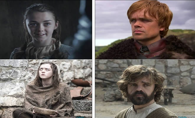 game of thrones - game of thrones - Game of Thrones – Antes e depois dos personagens