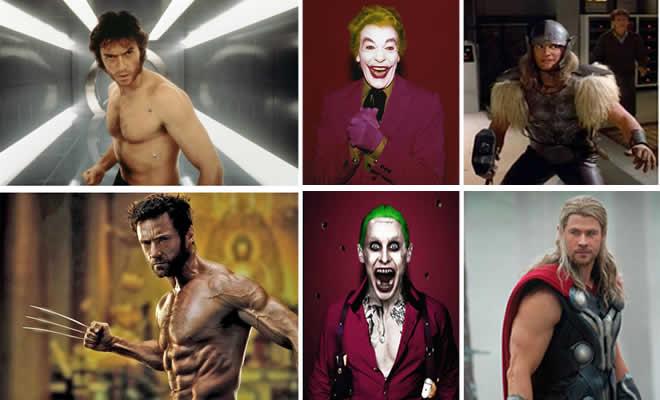 23 personagens heróis e vilões: Antes e agora 5