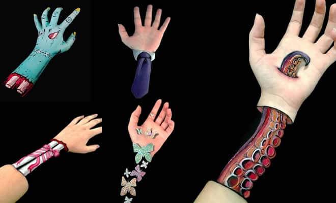 Ilusões de ótica em pinturas no braço (22 fotos) 16