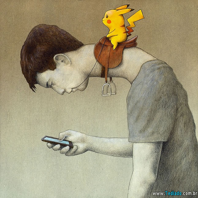 pokemon-go pokémon - pokemon go 1 - Arte satirica: Pokémon GO