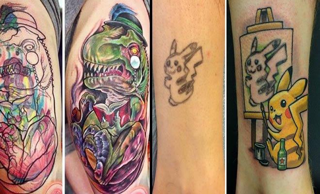 39 pessoas que encobriram suas tatuagens de um jeito criativo 2