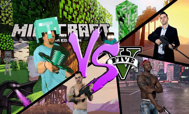 Batalha de rap: Minecraft VS GTA V 5