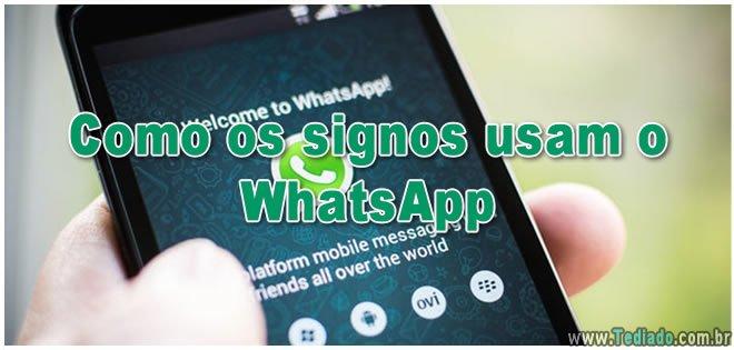 Como os signos usam o WhatsApp 2