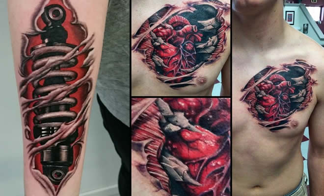 21 fotos de tatuagens de pele rasgado 3