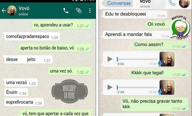 20 momentos engraçados da Vovó Whatsapp 4