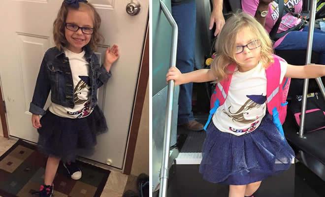 6 Hilariantes fotos de crianças antes e depois do seu primeiro dia da escola 3