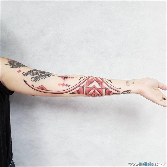 20 Tatuagens inpiradas na arte tribal da Amazônia 2