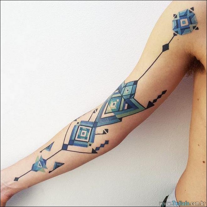 20 Tatuagens inpiradas na arte tribal da Amazônia 7