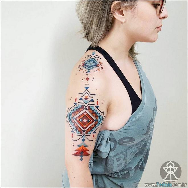 20 Tatuagens inpiradas na arte tribal da Amazônia 11