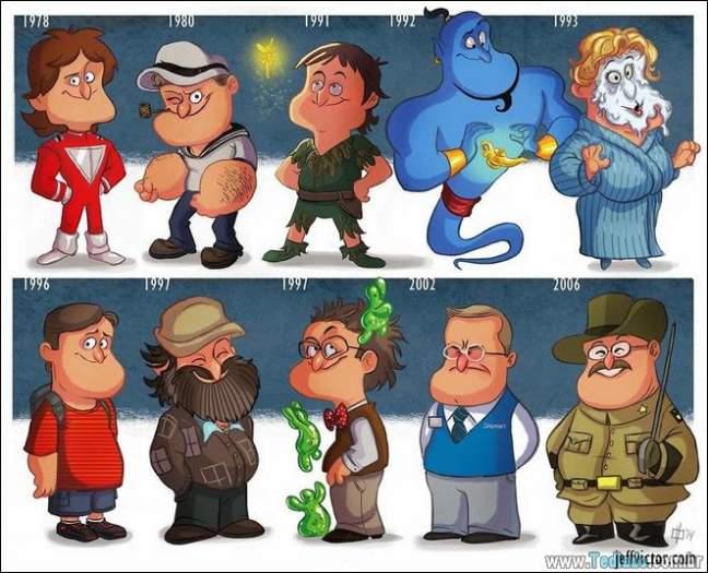 20 evolução de atores e personagens famosos 2
