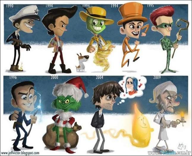 20 evolução de atores e personagens famosos 3