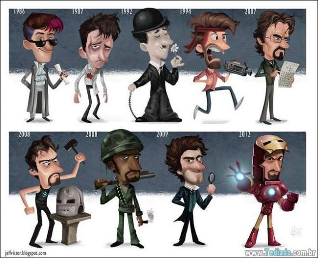 20 evolução de atores e personagens famosos 13