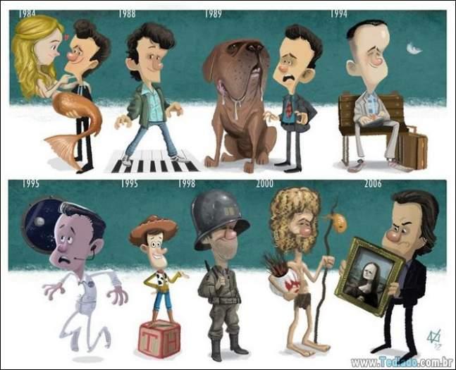 20 evolução de atores e personagens famosos 15