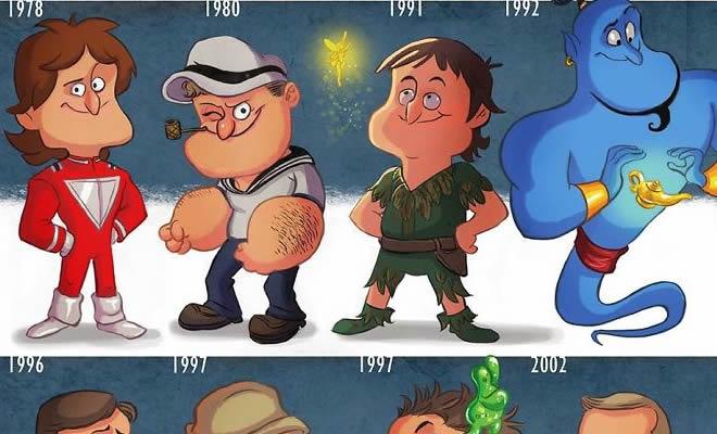 20 evolução de atores e personagens famosos 10