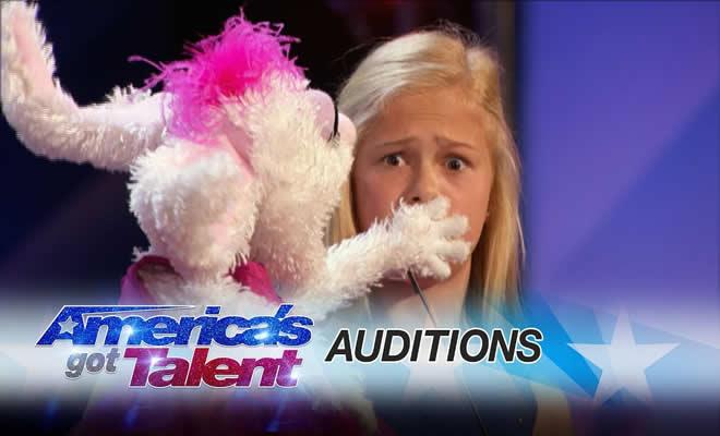 Garotinha ventríloqua de 12 anos é aplaudida de pé em programa americano 1