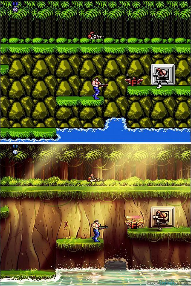 Um toque moderno em jogos clássicos do Nintendo (5 fotos) 3