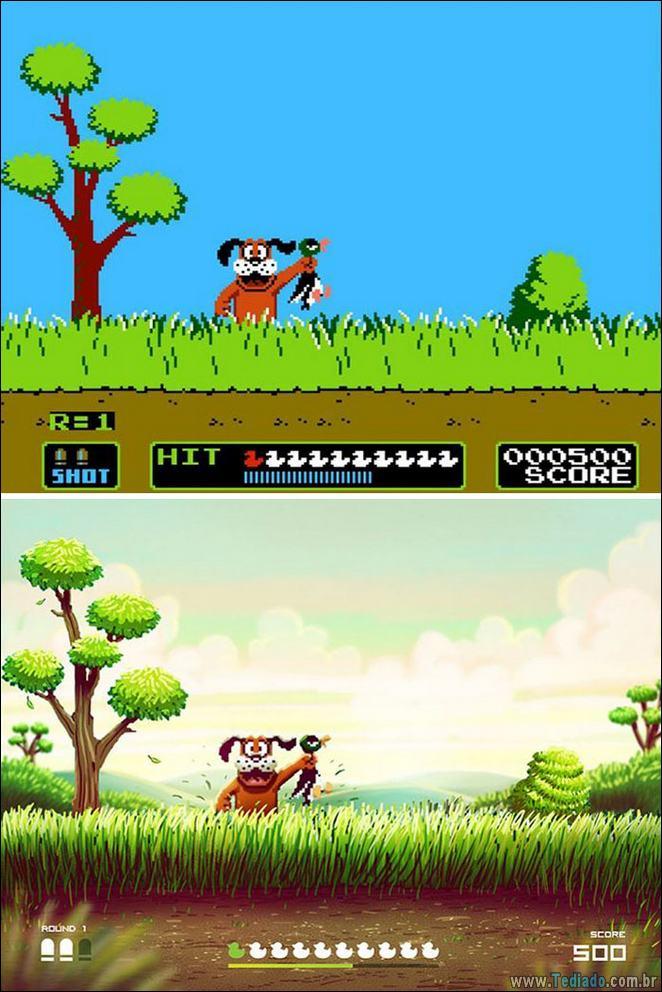 Um toque moderno em jogos clássicos do Nintendo (5 fotos) 5