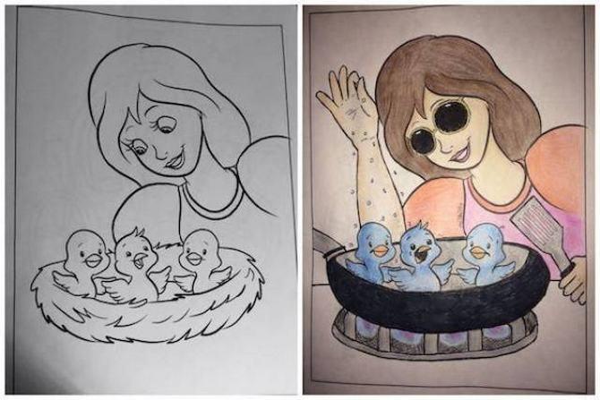 É por isso que livros de colorir não são para os adultos (24 fotos) 23
