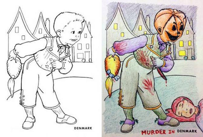 É por isso que livros de colorir não são para os adultos (24 fotos) 24