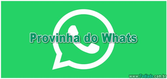 Provinha do Whats 16