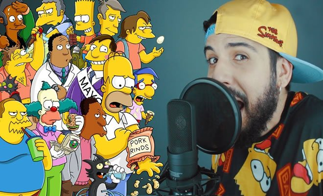 Rap com 70 personagens do Simpsons