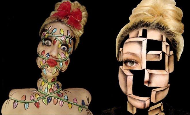Artista gasta 12 horas para criar essas ilusões torcidas em seu rosto (19 fotos) 1