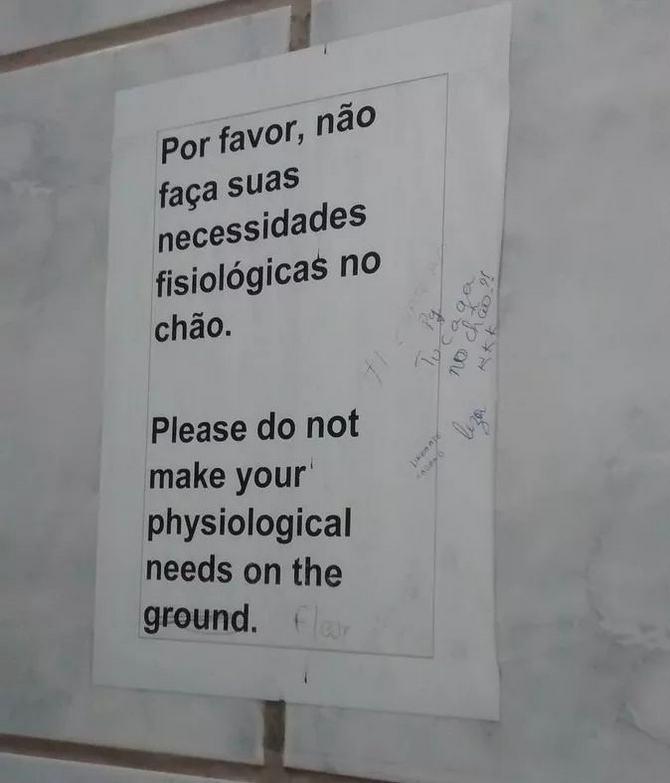 18 avisos engraçados que você só encontra nos banheiros brasileiros 12