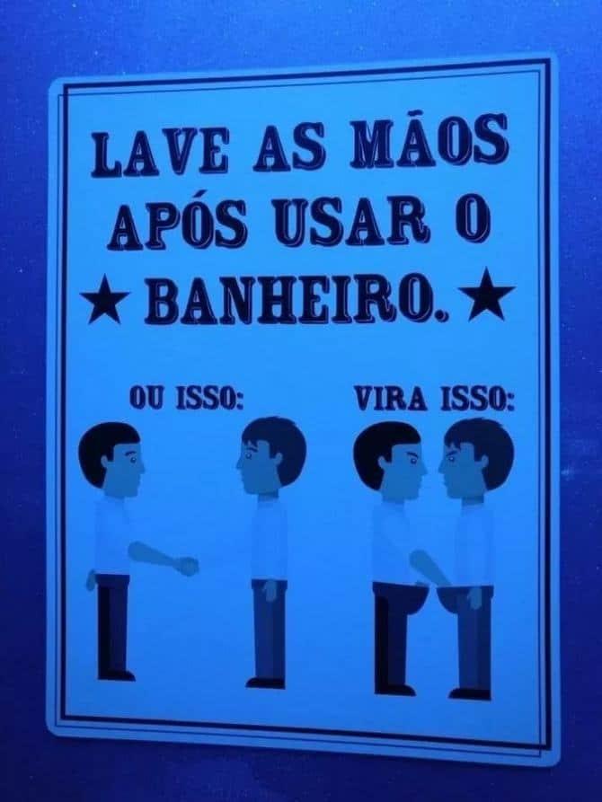 18 avisos engraçados que você só encontra nos banheiros brasileiros 13