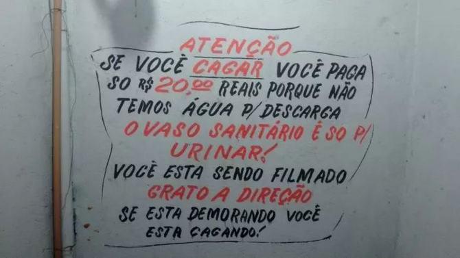 18 avisos engraçados que você só encontra nos banheiros brasileiros 15