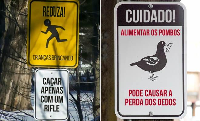 20 placas épicas encontradas no Brasil 6