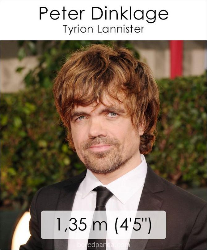 Qual é a altura dos atores da série Games of Throne 2