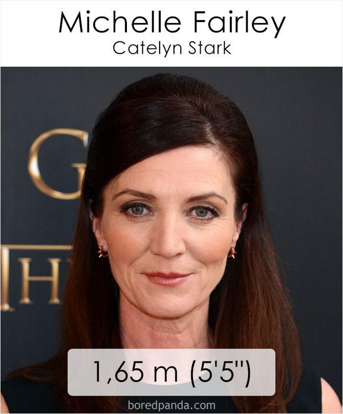 Qual é a altura dos atores da série Games of Throne 4