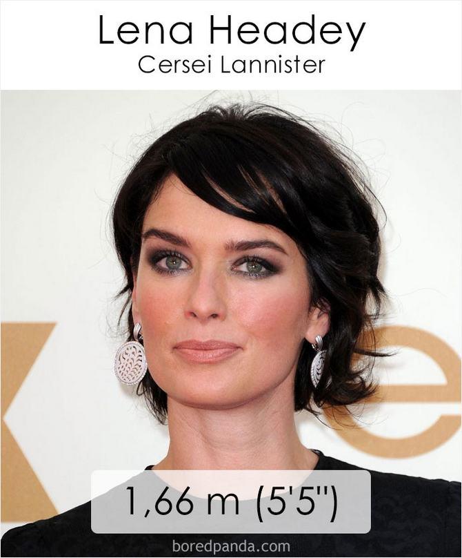 Qual é a altura dos atores da série Games of Throne 6