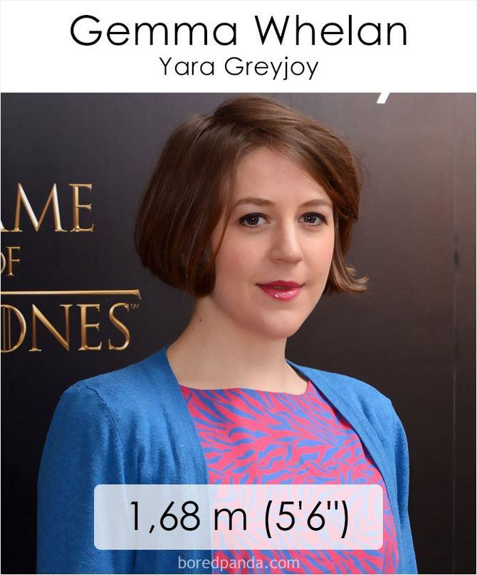 Qual é a altura dos atores da série Games of Throne 9