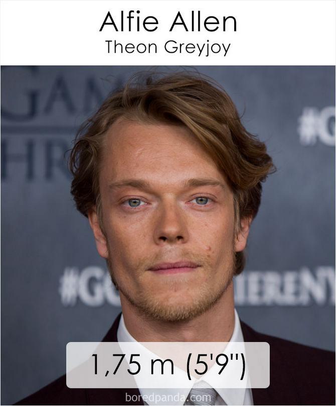 Qual é a altura dos atores da série Games of Throne 19