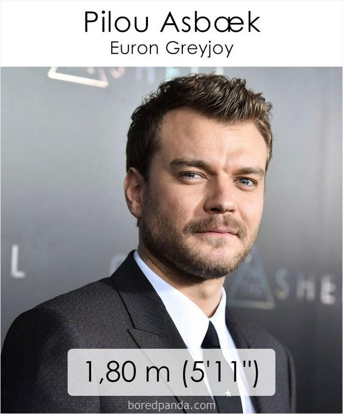 Qual é a altura dos atores da série Games of Throne 30