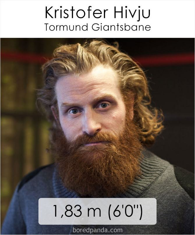 Qual é a altura dos atores da série Games of Throne 33