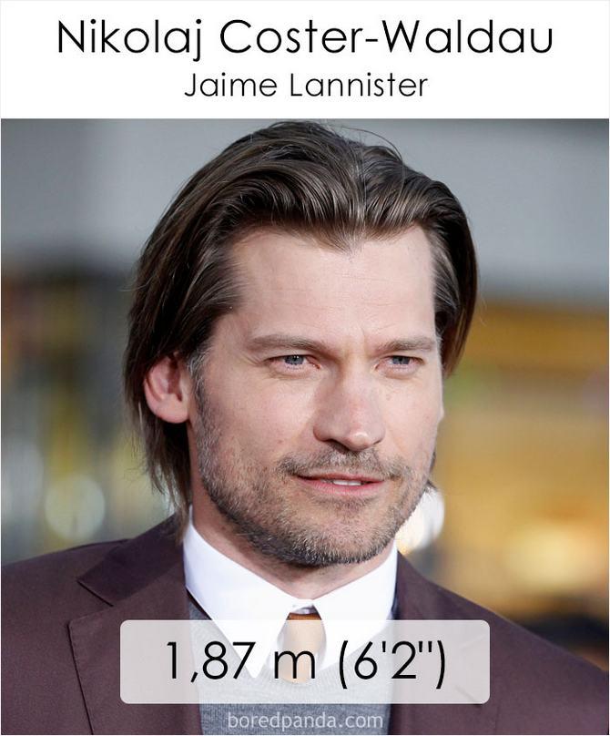 Qual é a altura dos atores da série Games of Throne 39