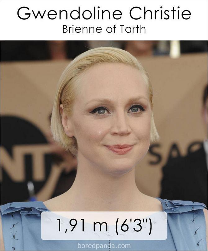 Qual é a altura dos atores da série Games of Throne 44