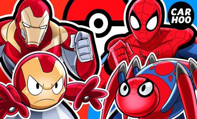 Batalha de Pokémon: Homem de ferro Vs Homem aranha 8
