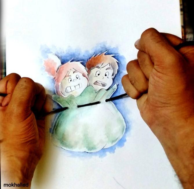 Mokhallad Habib é um farmacêutico que combinar desenhos com a vida real para fazer outras pessoas sorrir (20 fotos) 3