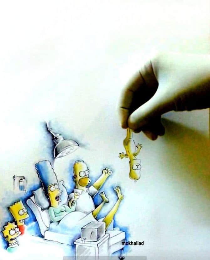 Mokhallad Habib é um farmacêutico que combinar desenhos com a vida real para fazer outras pessoas sorrir (20 fotos) 4