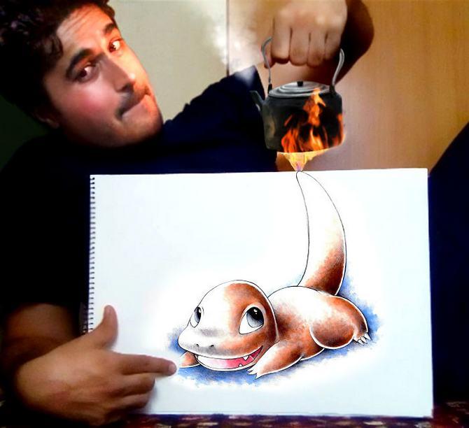 Mokhallad Habib é um farmacêutico que combinar desenhos com a vida real para fazer outras pessoas sorrir (20 fotos) 5