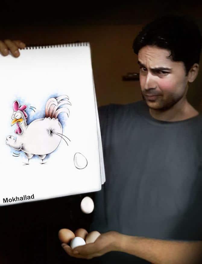 Mokhallad Habib é um farmacêutico que combinar desenhos com a vida real para fazer outras pessoas sorrir (20 fotos) 6